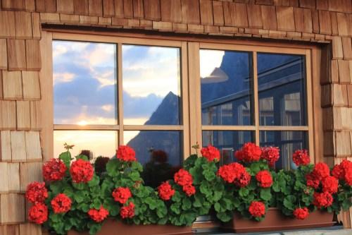 Fensteransicht Dolomitenhütte