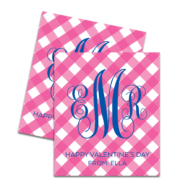 Gingham Printable Valentine Cards by Pineapple Paper Co.