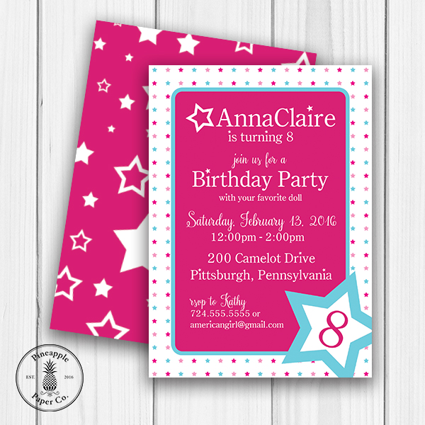 Interested In Having Us Design A Custom Invitation For Your Party Email At Infopineapplepaperco