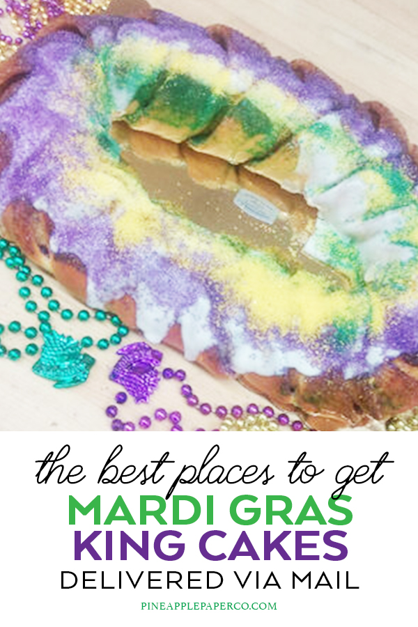 Traditional Mardi Gras King Cake Ideas curated by Pineapple Paper Co.