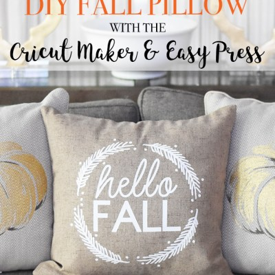 DIY Fall Pillow Using the Cricut Easy Press