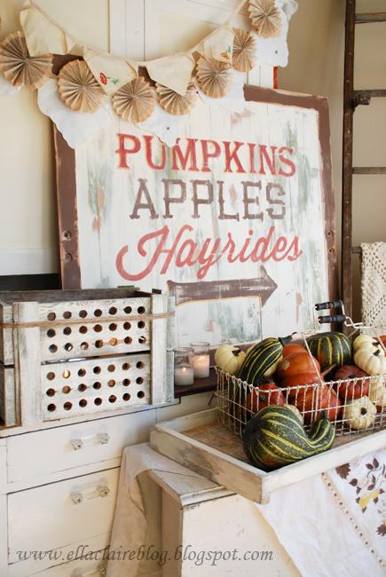 Pumpkins Wooden Sign