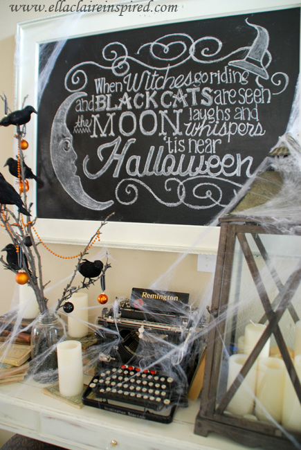 Halloween DIY Chalkboard