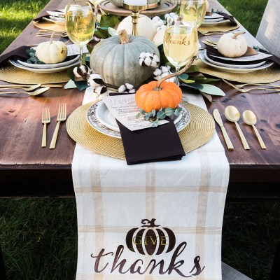 DIY Thanksgiving Table Decorations with Cricut and RUE Magazine