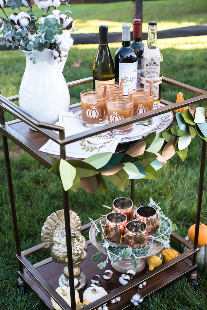 Thanksgiving Bar Cart for Rue Magazine and Cricut by Pineapple Paper Co.