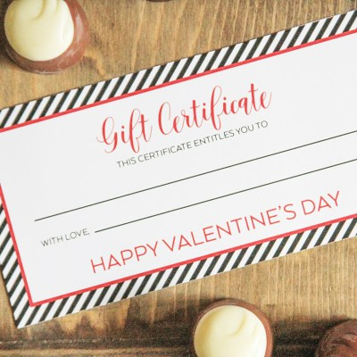 Easy Valentine's Day Gift for Him with FREE Printable Download