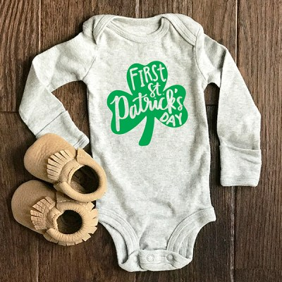 First St. Patrick's Day Onesie and SALE at Everyday Party Magazine Shop