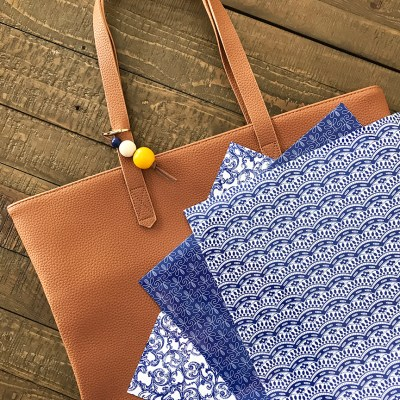 DIY Monogram Leather Tote Bag with Cricut Patterned Iron-On