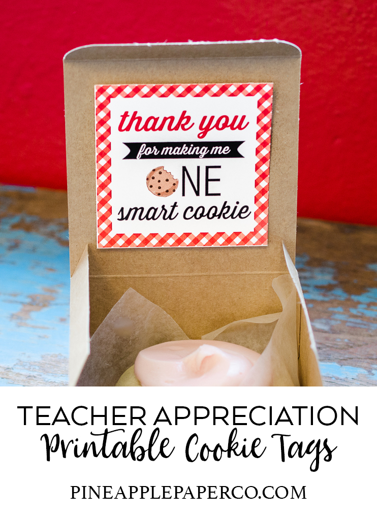 graphic about Thanks for Making Me One Smart Cookie Free Printable titled Trainer Appreciation Tags - Instructor Appreciation Playing cards