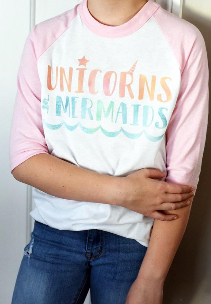 Unicorn Shirt with Cricut Patterned Iron On Vinyl