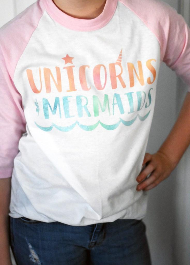 DIY Unicorn Shirt - DIY Mermaid Shirt using Cricut