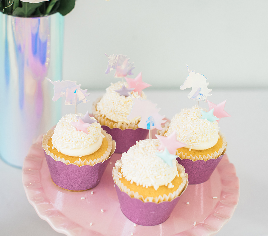 Unicorn Cupcakes by Pineapple Paper Co.