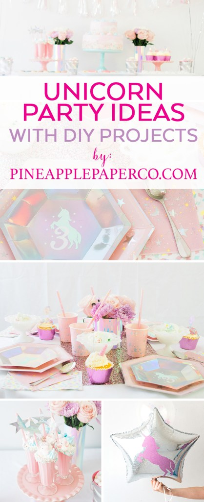 Unicorn Party Ideas by Pineapple Paper Co.