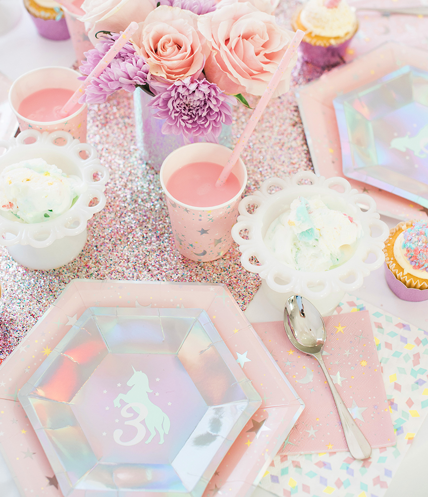 Unicorn Place Setting by Pineapple Paper Co.