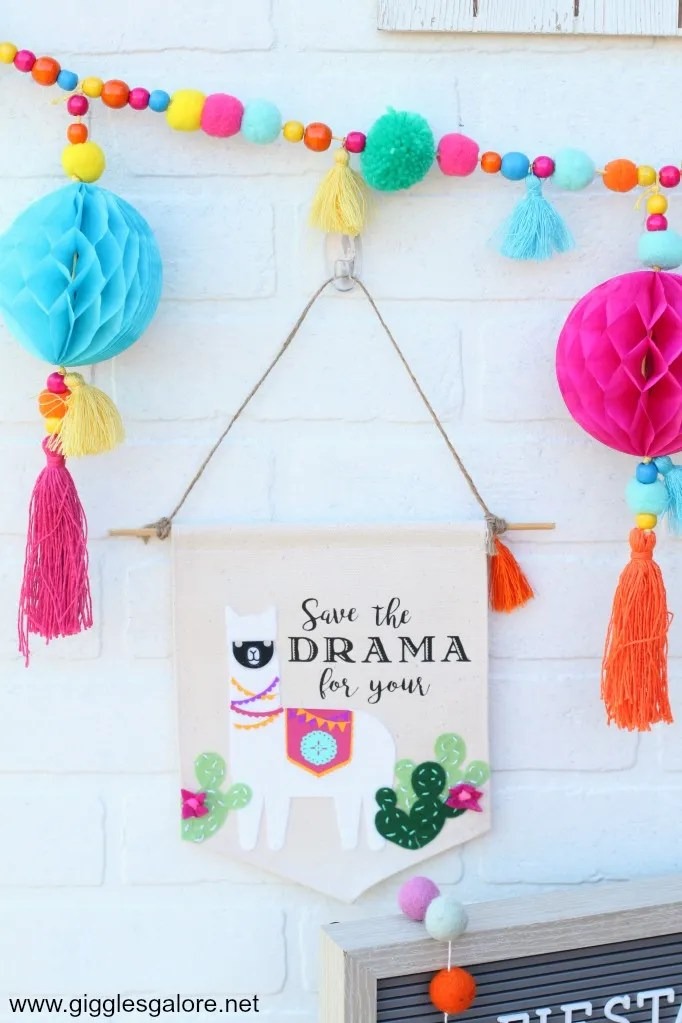 Save the Drama for your Llama Party Banner