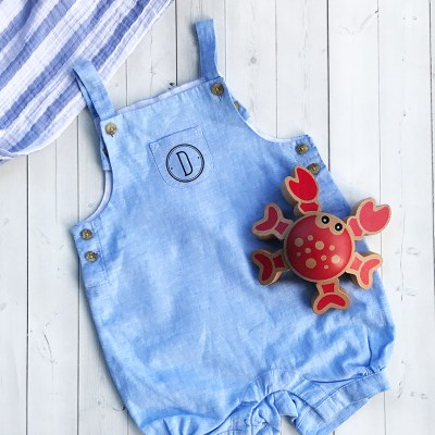 Monogrammed Baby Outfit with Cricut Iron-On