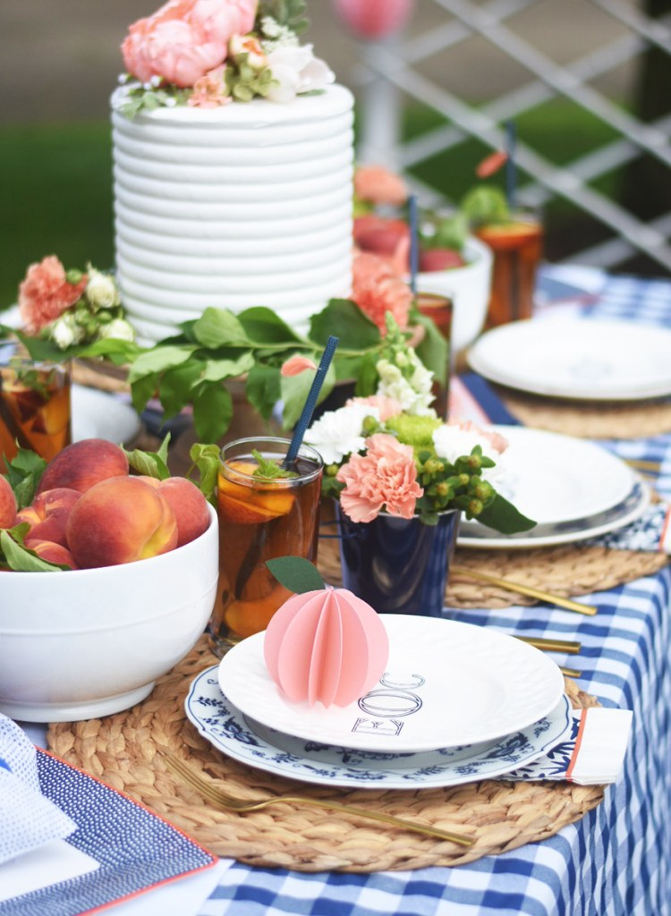Peach Summer Outdoor Party by Pineapple Paper Co. with Martha Stewart, Cricut, and Michaels