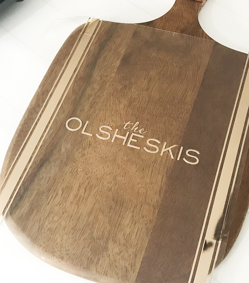 DIY Personalized Wood Tray with Cricut Foil Iron On