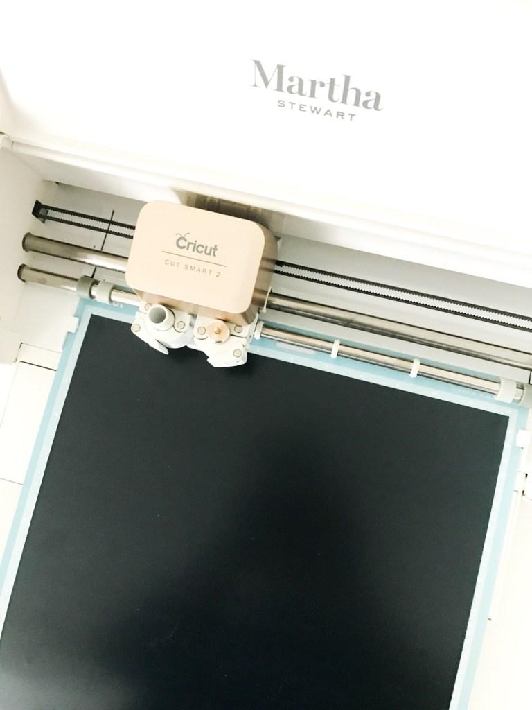 Martha Stewart Cricut Explore Air 2 cutting Black Iron On Vinyl