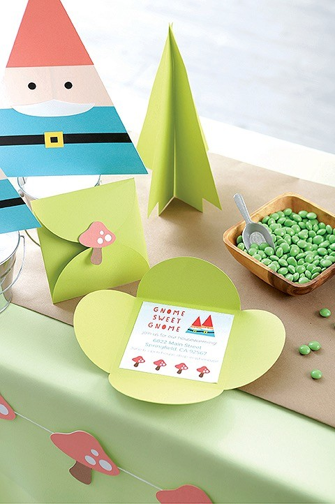 Fall Birthday Party Gnome Invitation from Paper Party Book