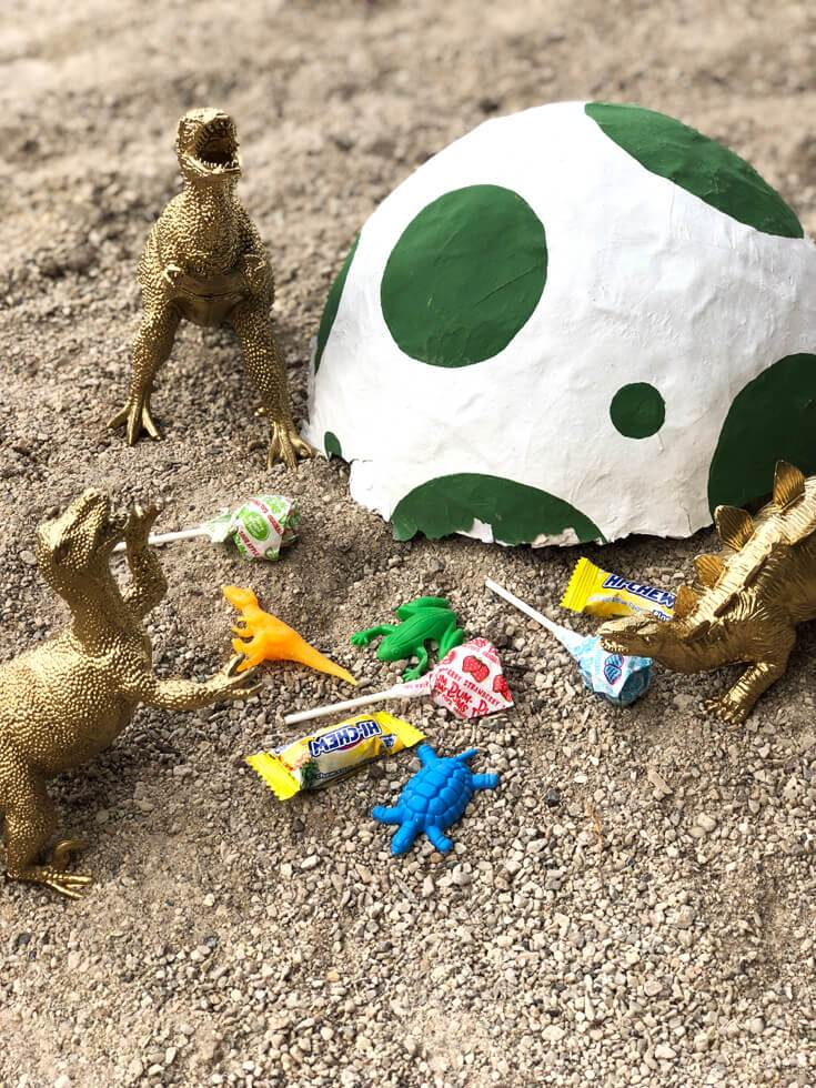 Dinosaur Egg Piñata curated by Pineapple Paper Co.