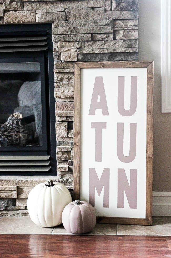 DIY Autumn Modern Farmhouse Sign