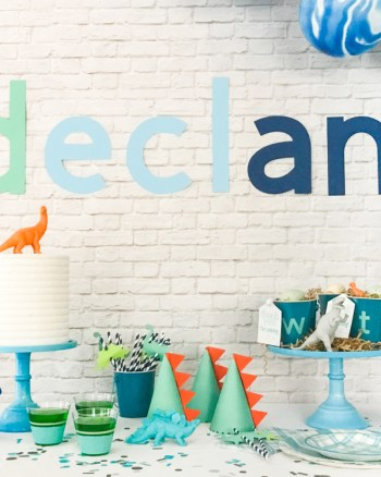 Modern Dinosaur Party with Martha Stewart, Michaels, and Cricut by Pineapple Paper Co.