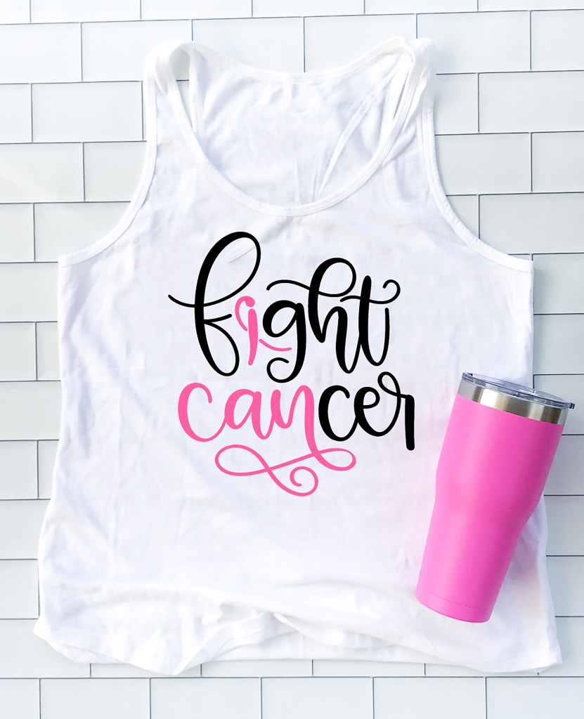 How to Make a Breast Cancer Awareness Shirt with your Cricut by Pineapple Paper Co.