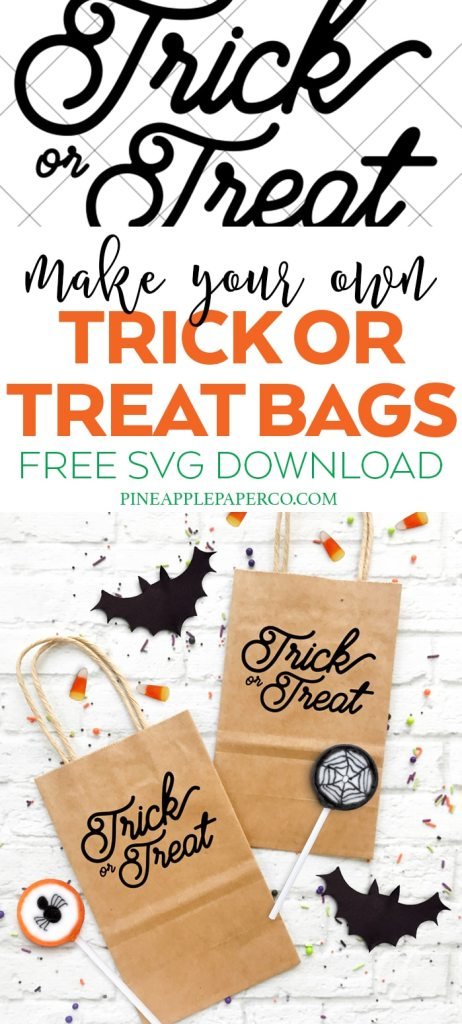 Make your Own Halloween Treat Bag with a Free Trick or Treat SVG by Pineapple Paper Co.