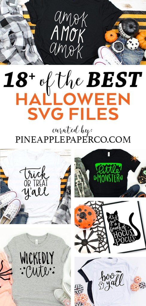Free Halloween SVG Files curated by Pineapple Paper Co.