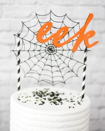 Make Your Own Halloween Cake Topper with Martha Stewart, Cricut, and Michaels by Pineapple Paper Co.