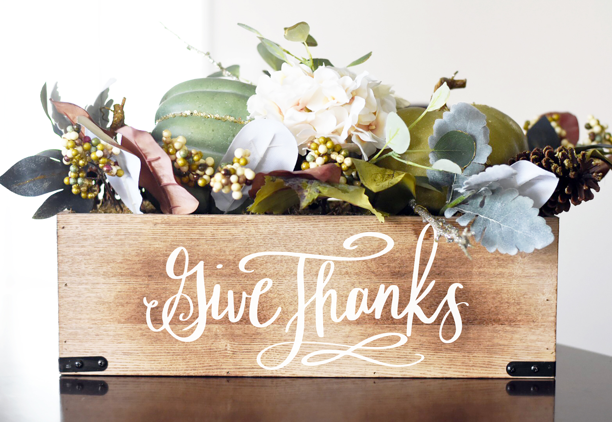 Free Give Thanks Svg Diy Centerpiece Box Pineapple Paper Co