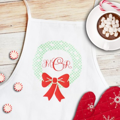 Make a Monogrammed Apron with Martha Stewart and Cricut