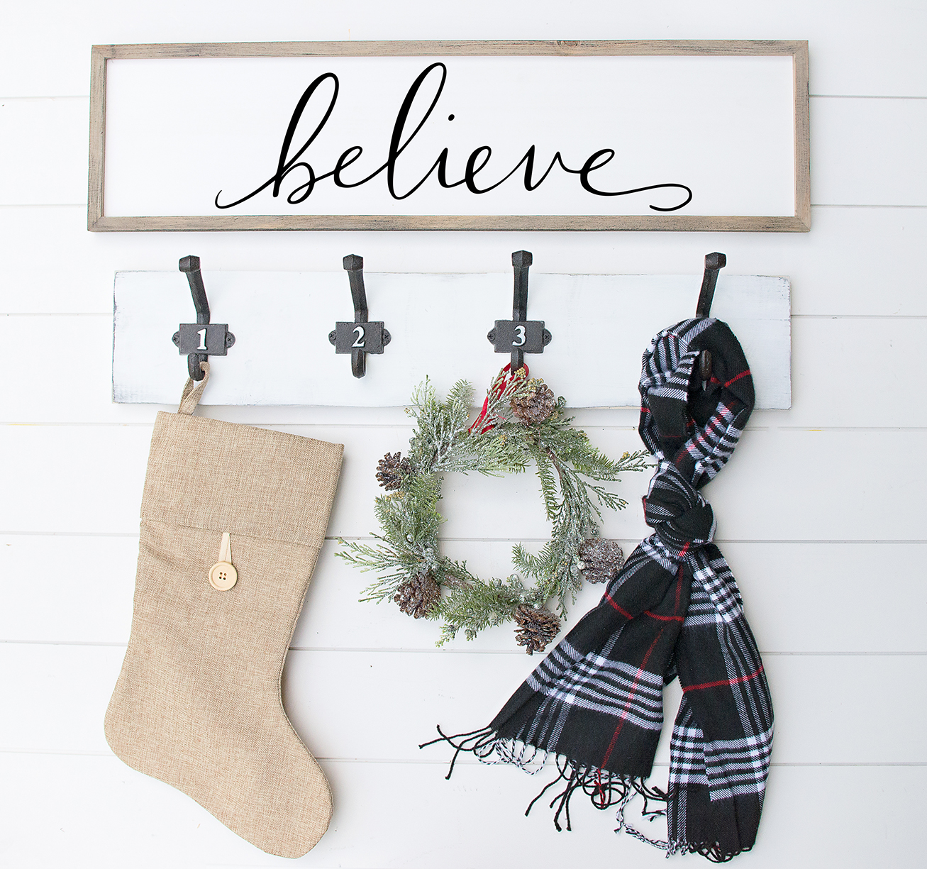 Believe Free Christmas Svg File Diy Wood Sign Pineapple Paper Co