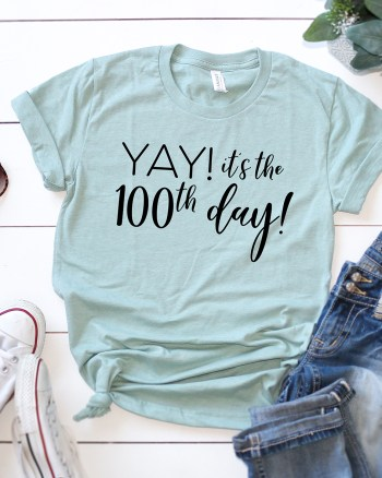 100th Day of School Shirt SVG by Pineapple Paper Co.