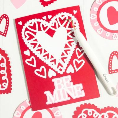 Make a Handmade Valentine's Card with Martha Stewart, Cricut, and Michaels