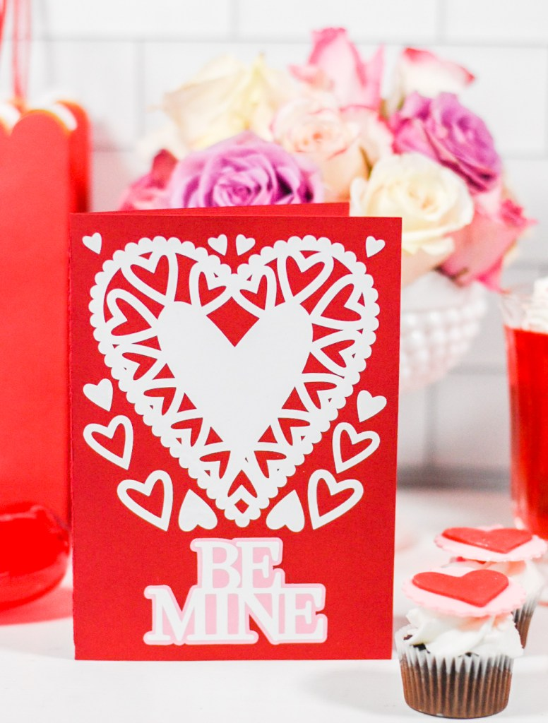 Handmade Valentine Card - Martha Stewart Cricut - Pineapple Paper Co