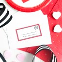 Valentine Card Labels