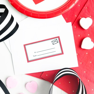 Make Easy Valentine Cards with FREE Printable Tags