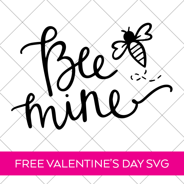 Free Bee Mine SVG on Grid by Pineapple Paper Co.