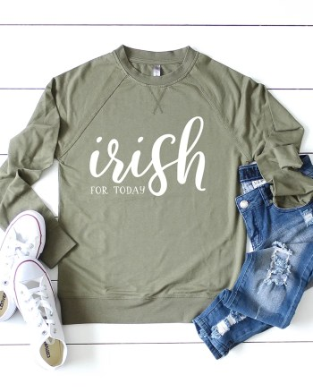 How to Make an Easy DIY St. Patrick's Day Shirt with a Free Irish SVG by Pineapple Paper Co.