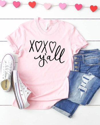 XOXO Y'all Valentine SVG File for Cricut and Silhouette Pineapple Paper Co.