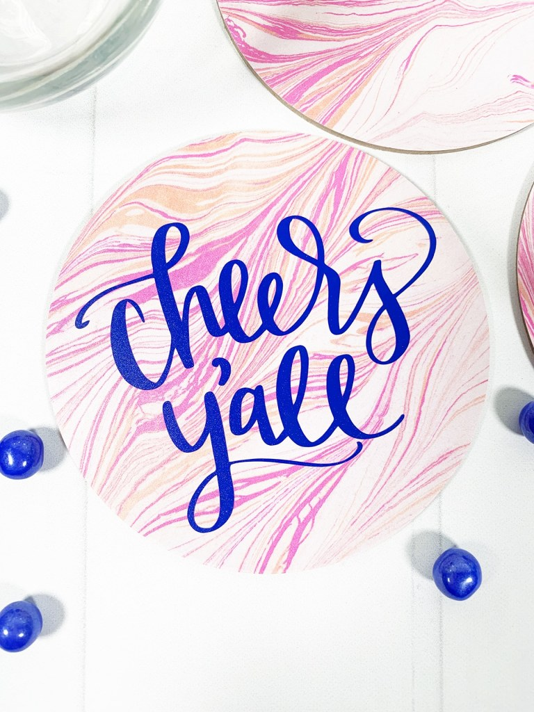 Cheers Y'all DIY Coaster by Pineapple Paper Co.