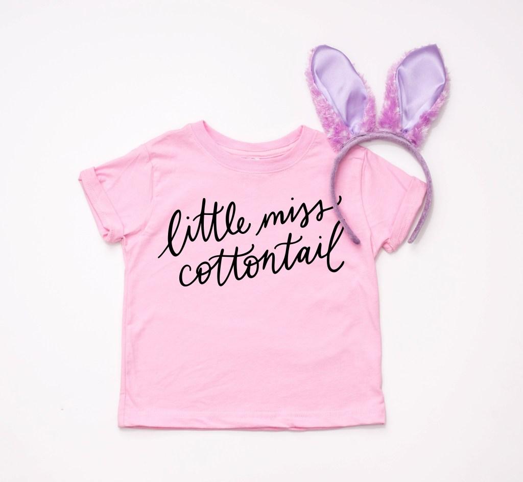 Little Miss Cottontail Easter Shirt