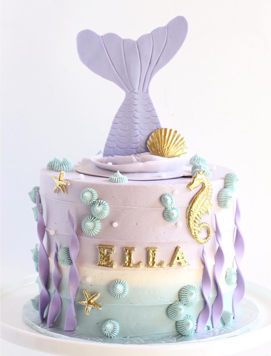 Swell 10 Amazing Mermaid Birthday Cake Ideas Pineapple Paper Co Funny Birthday Cards Online Fluifree Goldxyz