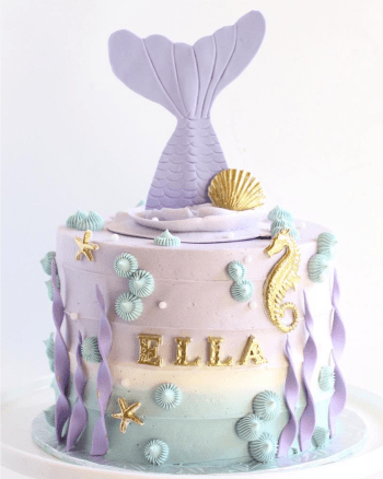 Mermaid Birthday Cake Ideas curated by Pineapple Paper Co. Photo Credit: Star Bird Bakehouse