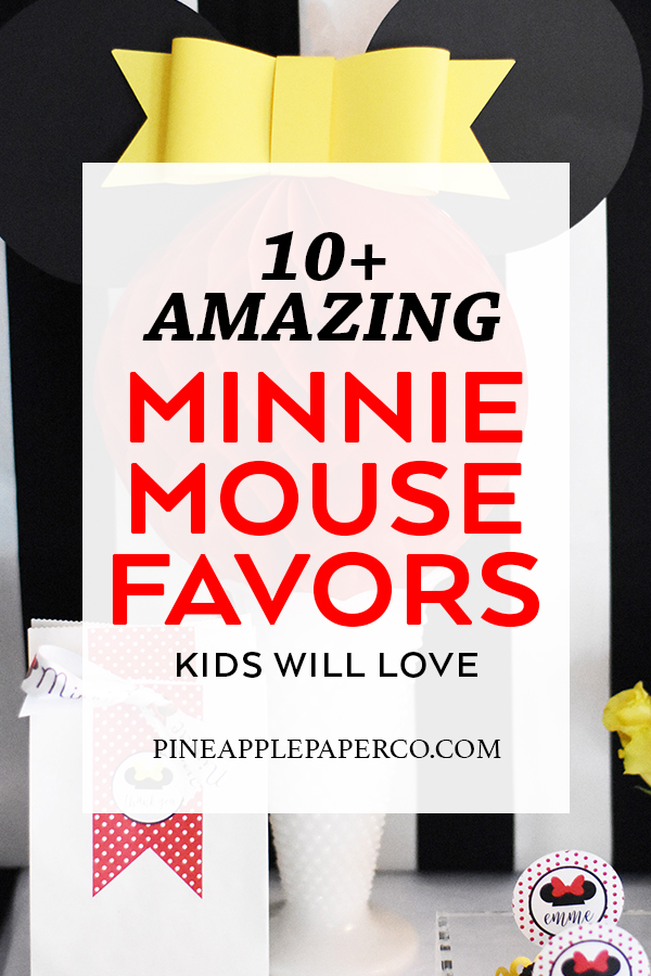Minnie Mouse Birthday Party Favor Ideas curated by Pineapple Paper Co.