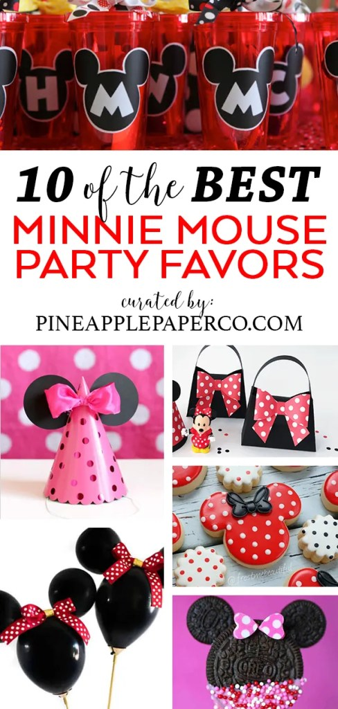 Minnie Mouse Party Favor Ideas curated by Pineapple Paper Co.