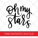 Oh My Stars Patriotic SVG File