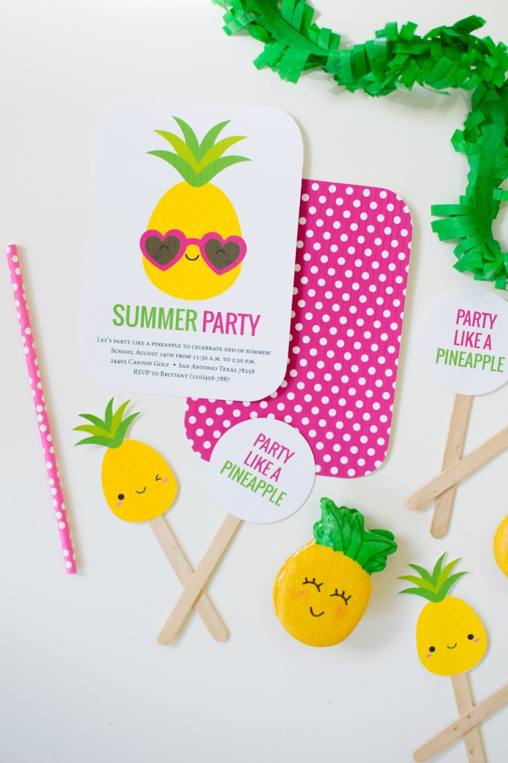 Party Like a Pineapple Girl Birthday Party